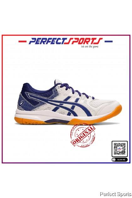 Perfect Sports - Asics Gel Rocket 9 Women- White/Dive Blue (Unisex) [100% Genuine]