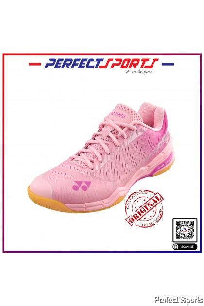 [Free Shoe Bag + Sock] Perfect Sports - Yonex Power Cushion Aerus X (Unisex) Pastel Pink [100% Genuine]