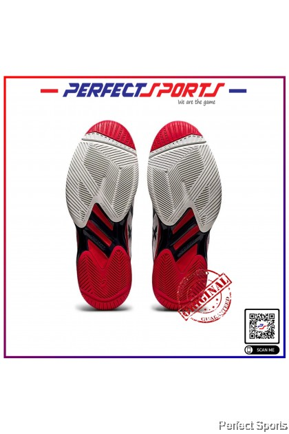 [Free Shoe Bag + Sock] Perfect Sports - Asics Solution Speed FF2 White/Mako Blue [100% Genuine]