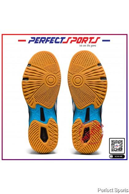 [Free Shoe Bag + Sock] Perfect Sports - Asics Gel Rocket 10 White/Digital Aqua [100% Genuine]
