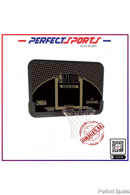 """Perfect Sports - Spalding 44"""" Highlight Combo Board and Rim [100% Genuine]"""